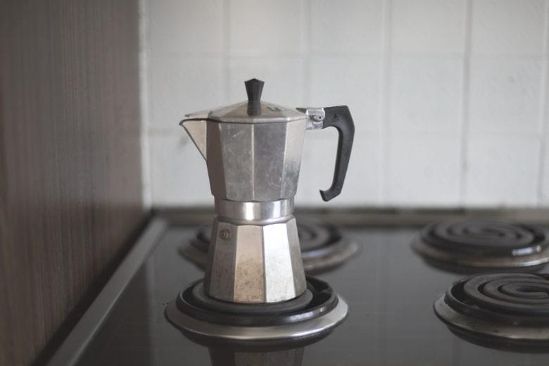 coffee percolators on stovetop
